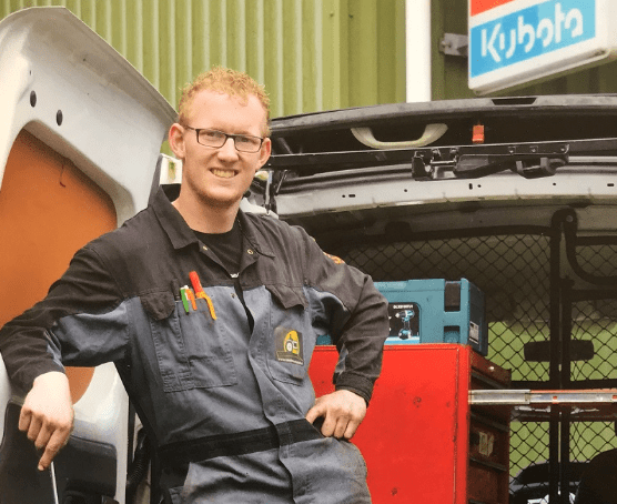 Simon Rinkel Van Dam MEchanisatie BV elektrische Renault Kango
