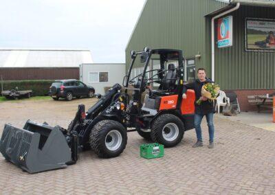 Aflevering Kubota RT280 minishovel Van Dam Mechanisatie BV Anton Rail & Infra Obdam