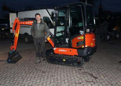 Aflevering Kubota KX019-4 Van Dam Mechanisatie Ursem Pilkes Stompetoren